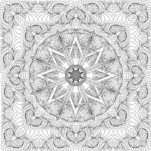 mariner u0026 39 s compass 2012 queen size quilting pattern